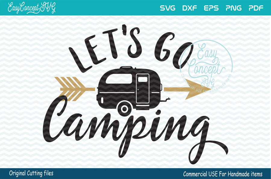Let's Go Camping SVG, Camping Svg, Camp Svg example image 1