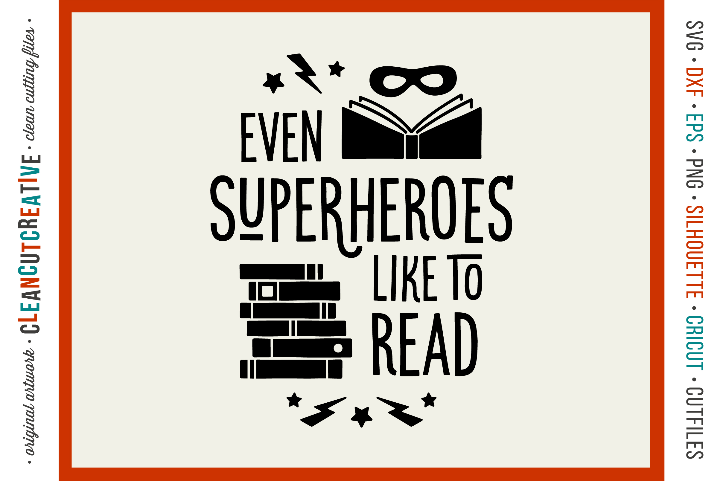 Even SUPERHEROES like to READ! - Cricut Silhouette cut file example image 1