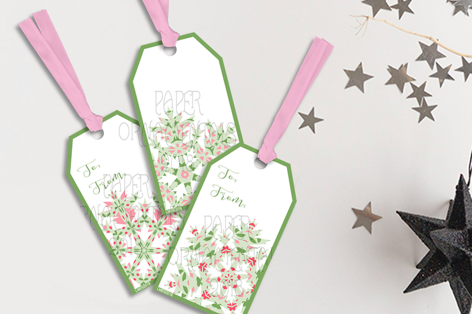 Printable Holiday Gift Tags, Snowflake To/From Tags example image 2