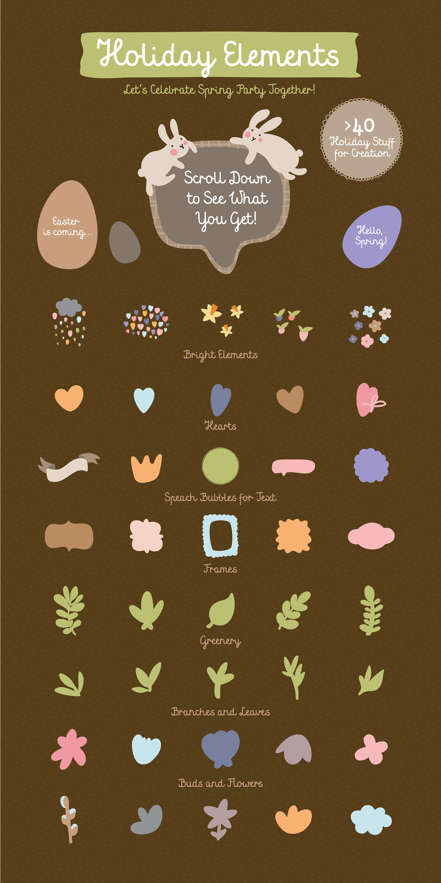 FIND EASTER! FUNNY VECTOR EASTER SET example image 4