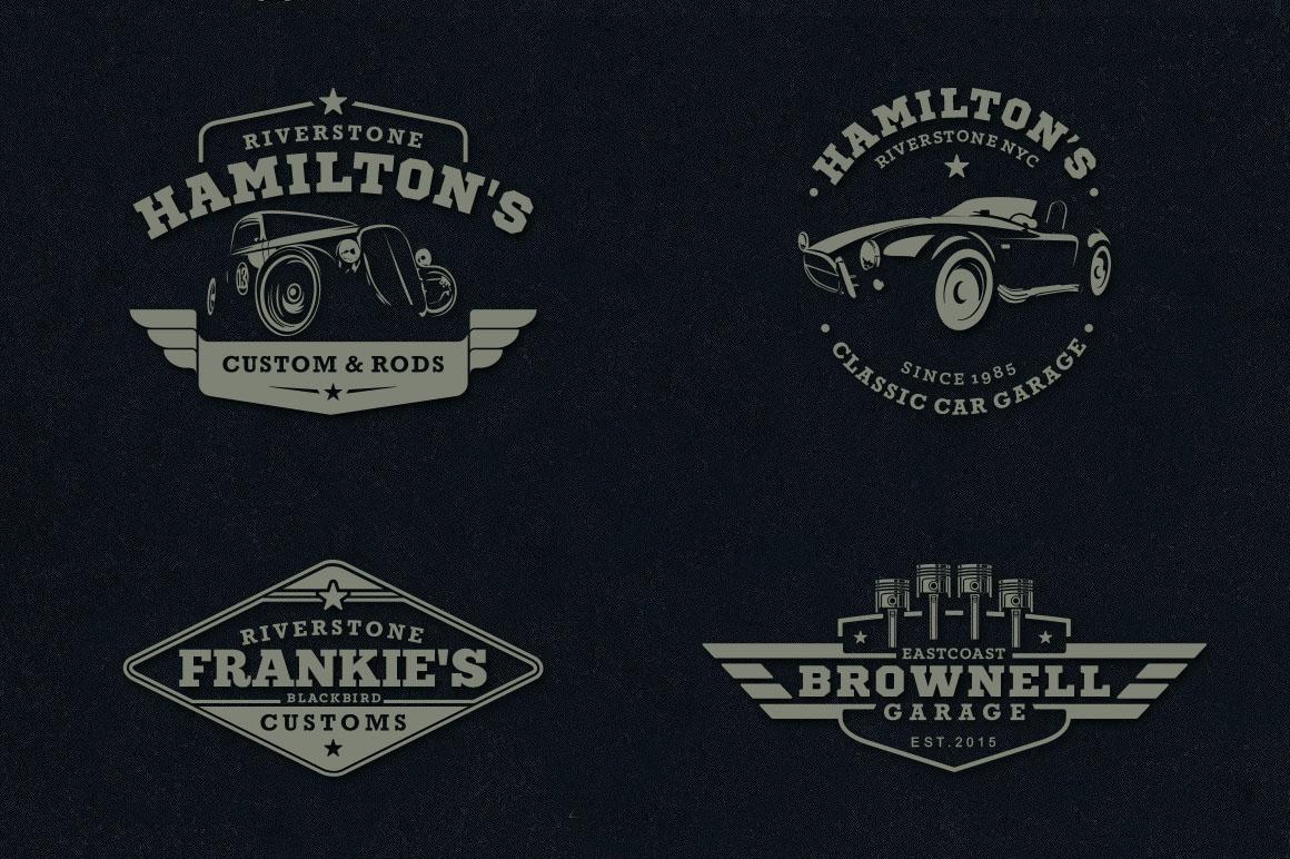 Classic Car Garage Badges & Logos example image 5