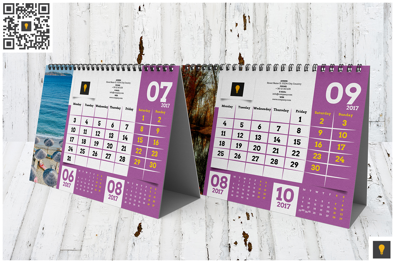2017 Desktop Calendar example image 4
