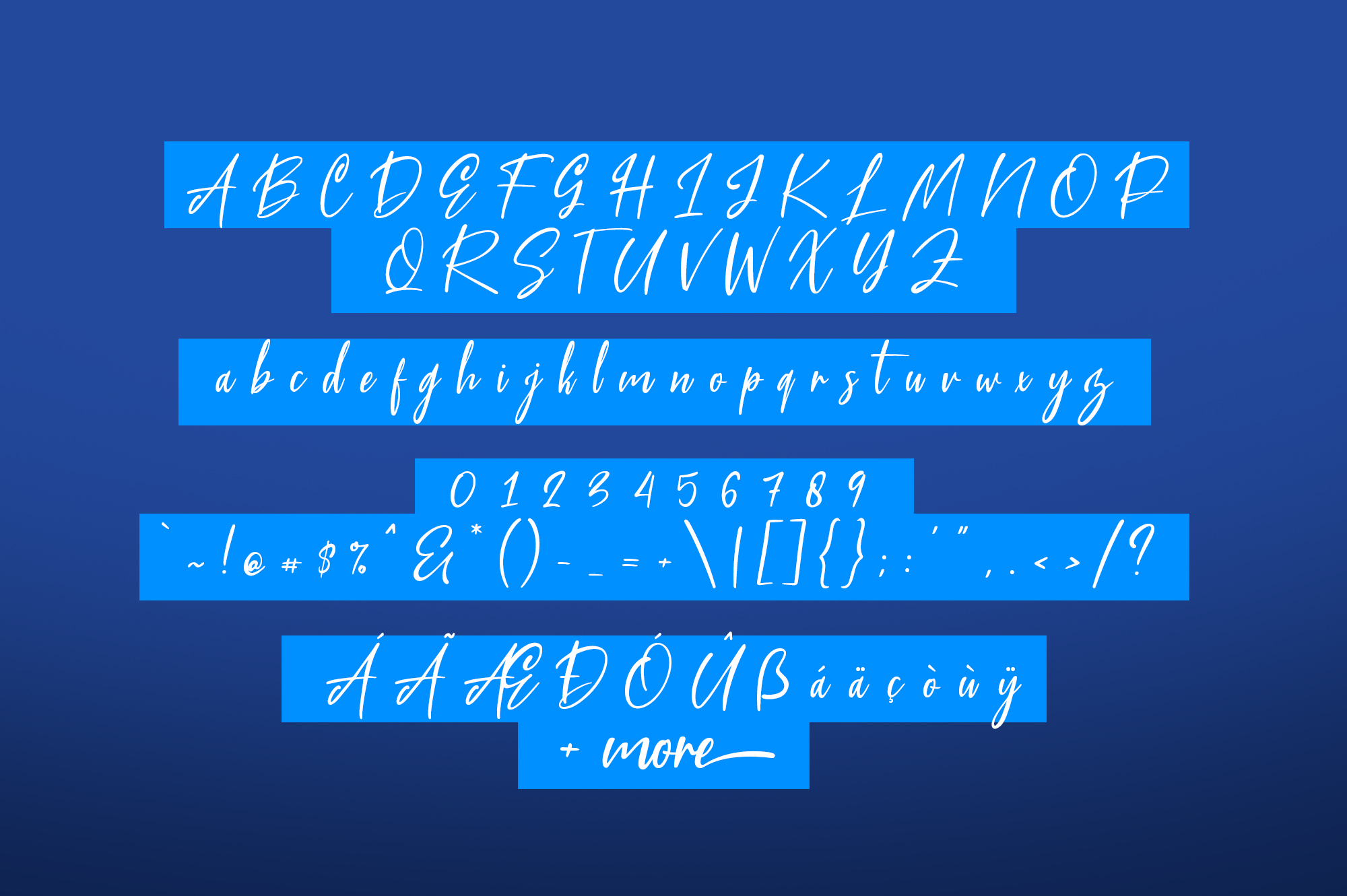 Blue Pen 3 Fonts example image 6