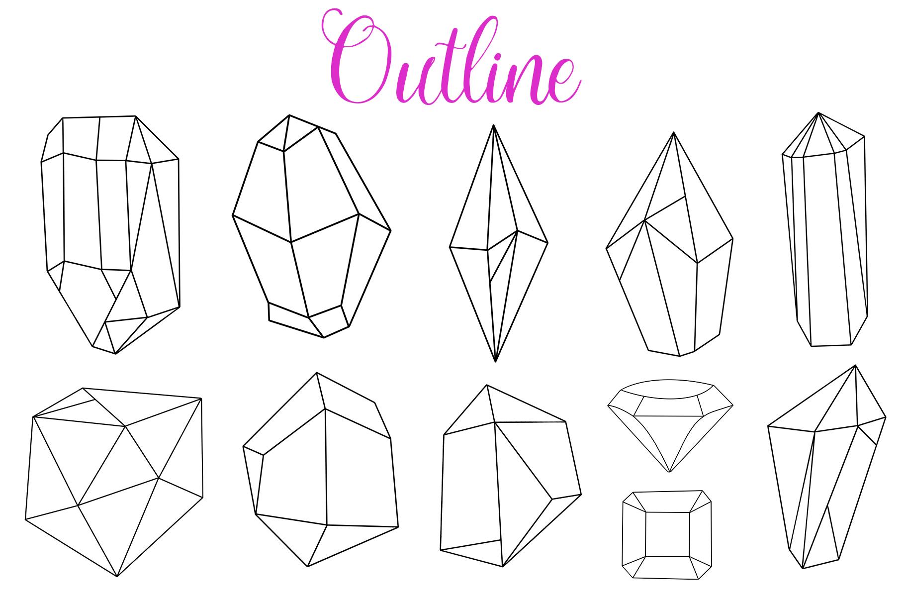 Watercolor Crystals example image 3