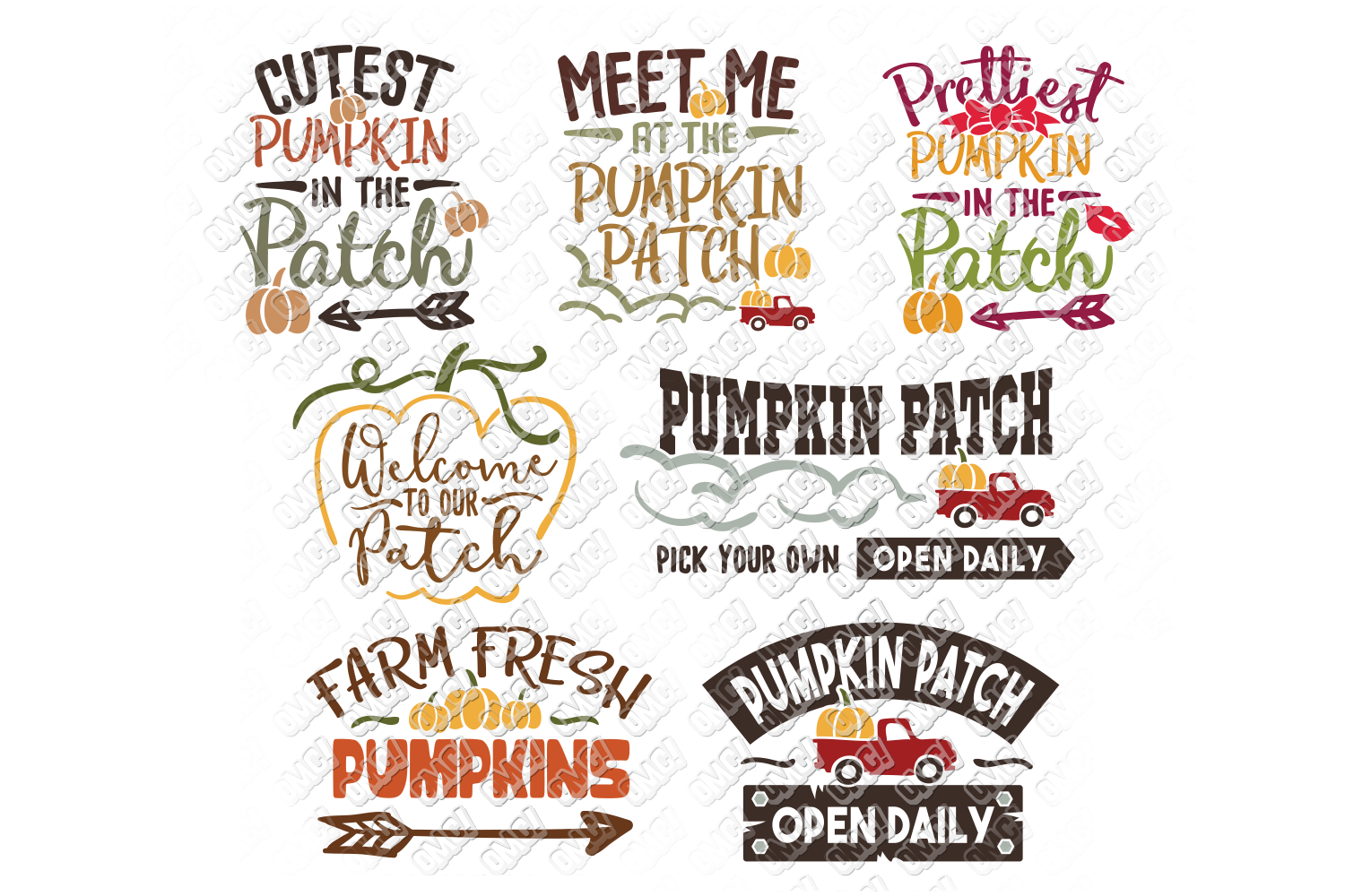 Pumpkin Patch SVG Thanksgiving in SVG, DXF, PNG, EPS, JPG example image 1