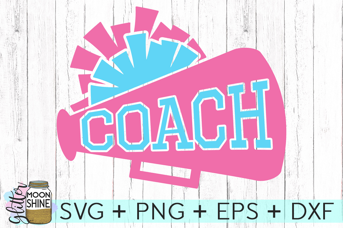 Cheerleading Coach SVG DXF PNG EPS Cutting Files example image 2