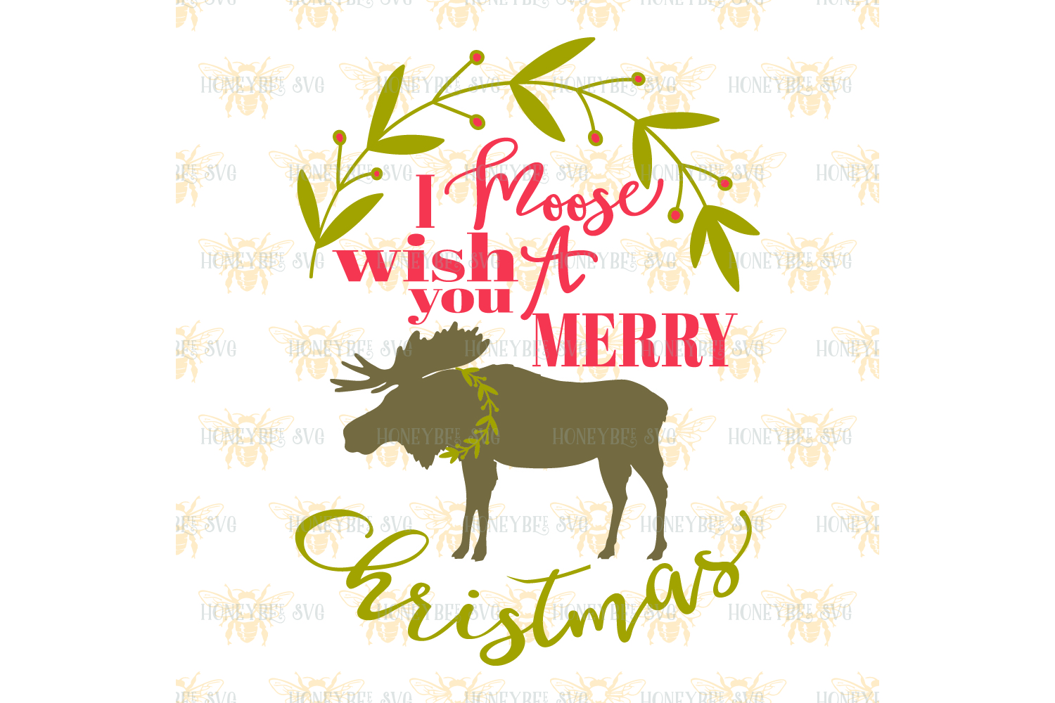 I Moose Wish You A Merry Christmas svg example image 2