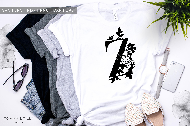 Z Bouquet Letter Design - Paper Cut SVG EPS DXF PNG PDF JPG example image 5