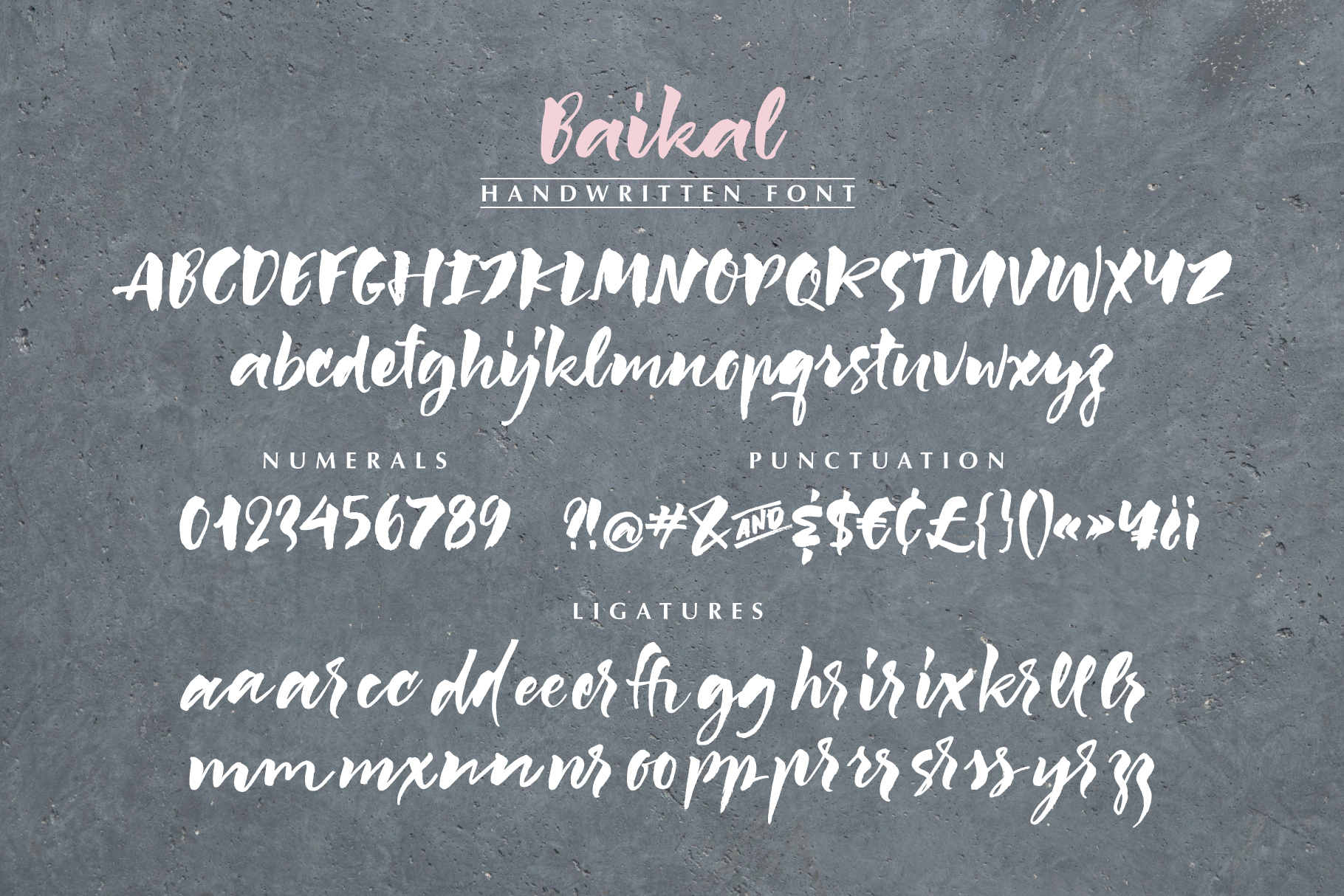 Baikal Handwritten Font with bonus example image 4
