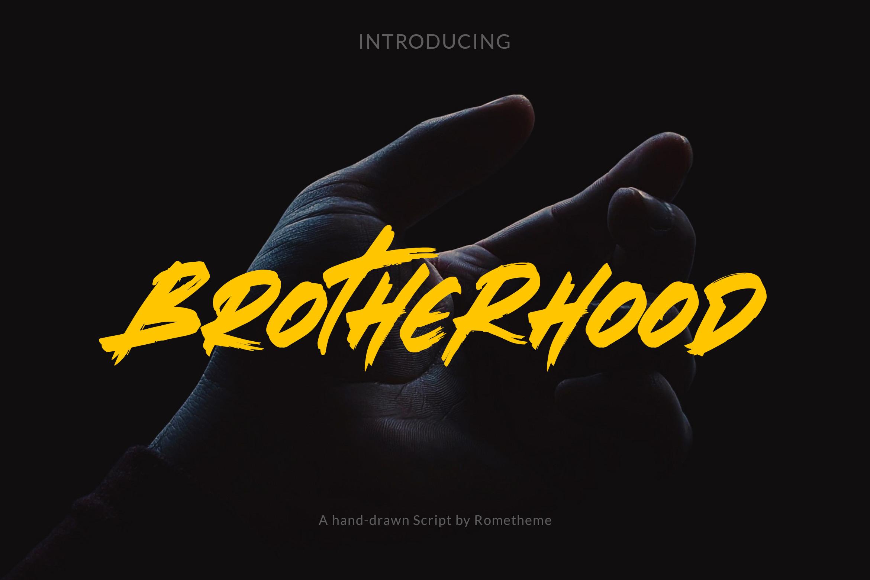 Brotherhood - Brush Script Font example image 1