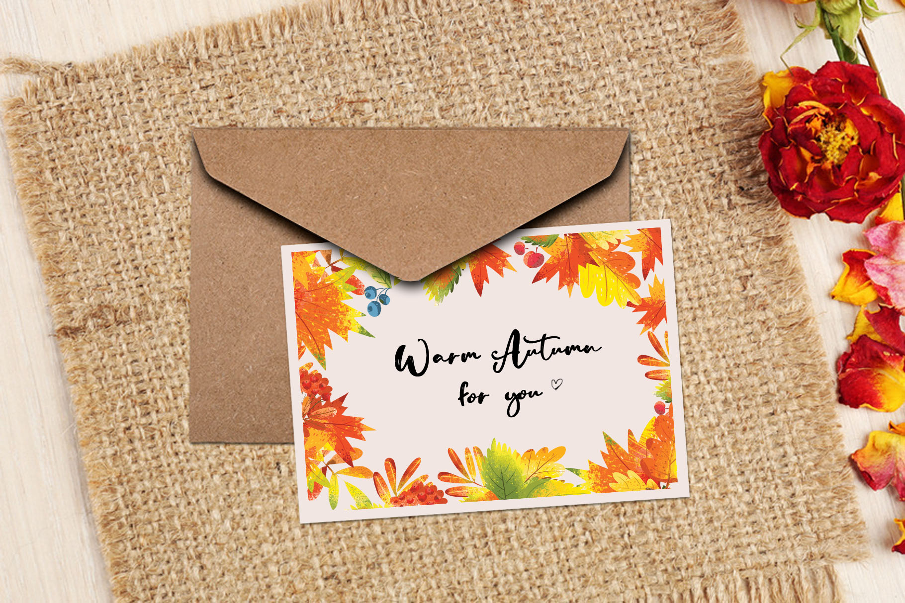 Autumn Leaves - over 30 objects, frames, patterns example image 10
