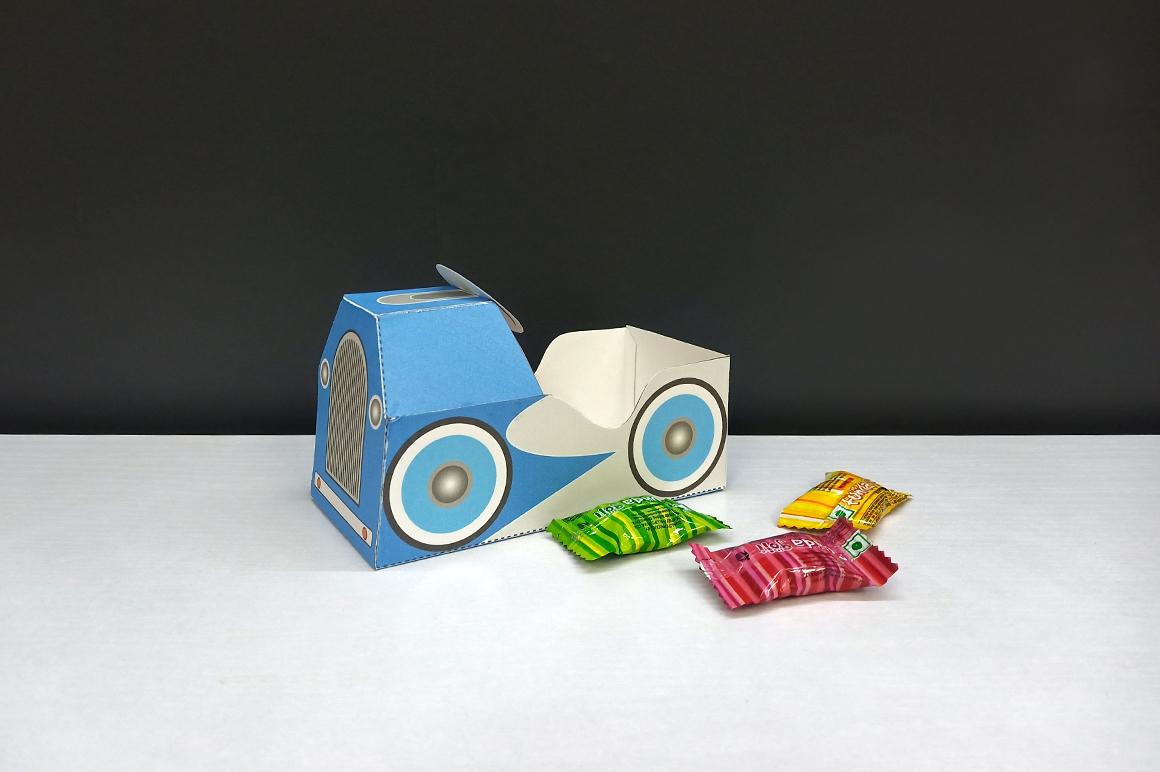 DIY Pedal car favor - 3d papercraft example image 7