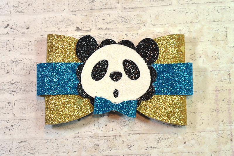 6 Hair bow template SVG, Animal faux leather bow template example image 5