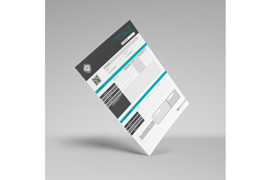 Job Application A4 Template example image 2