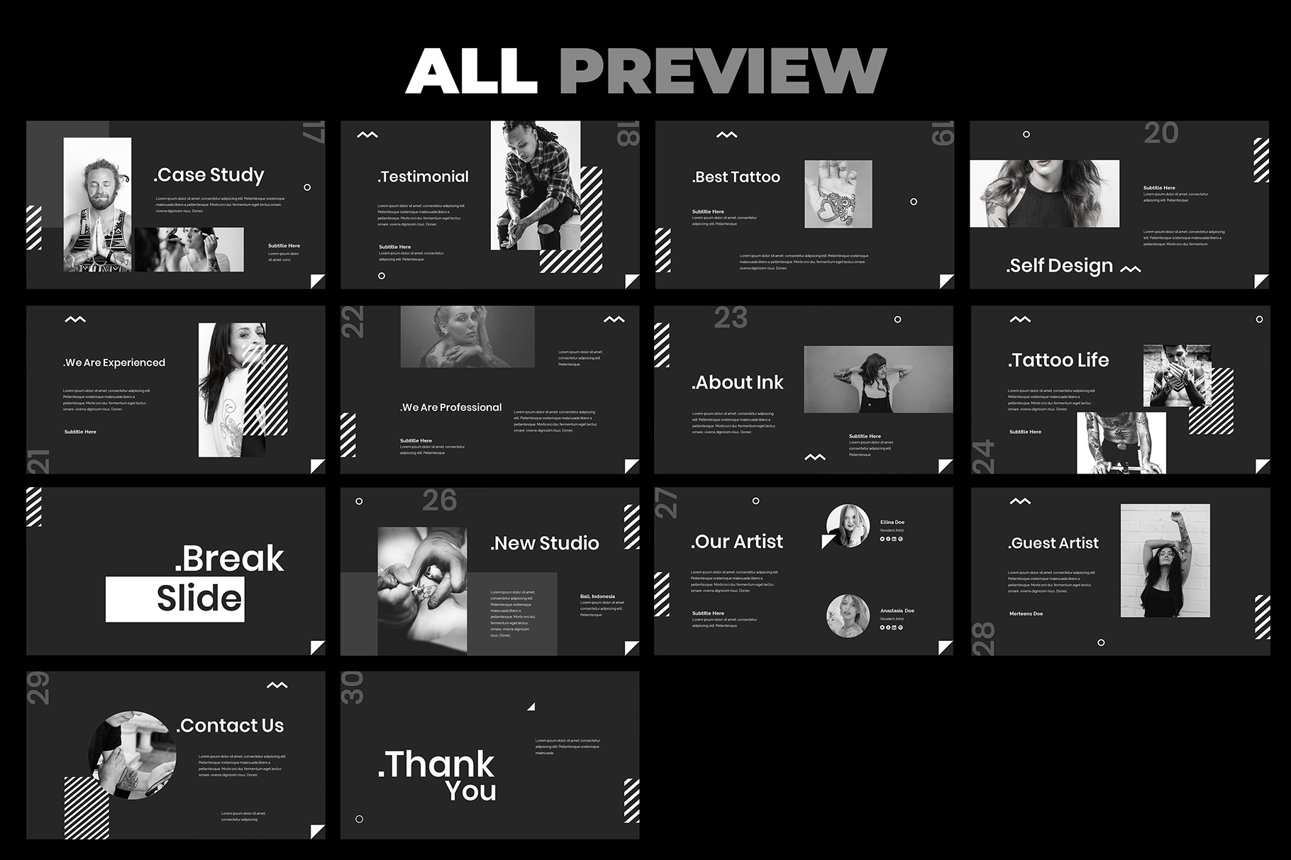 Tattoo Google Slides Presentation example image 6
