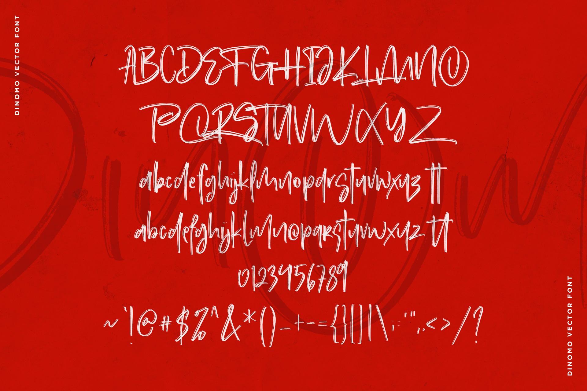 Dinomo SVG Brush Font example image 10