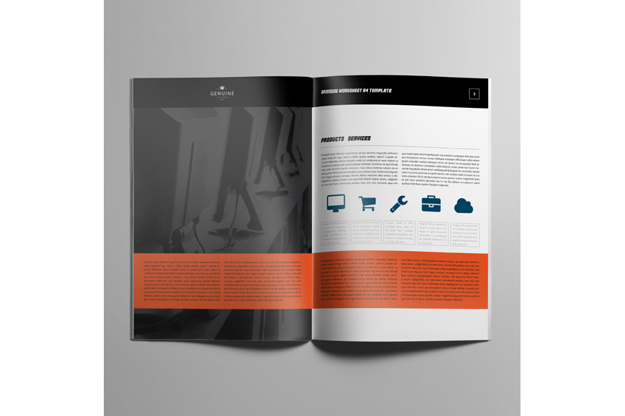 Branding Worksheet A4 Template example image 4