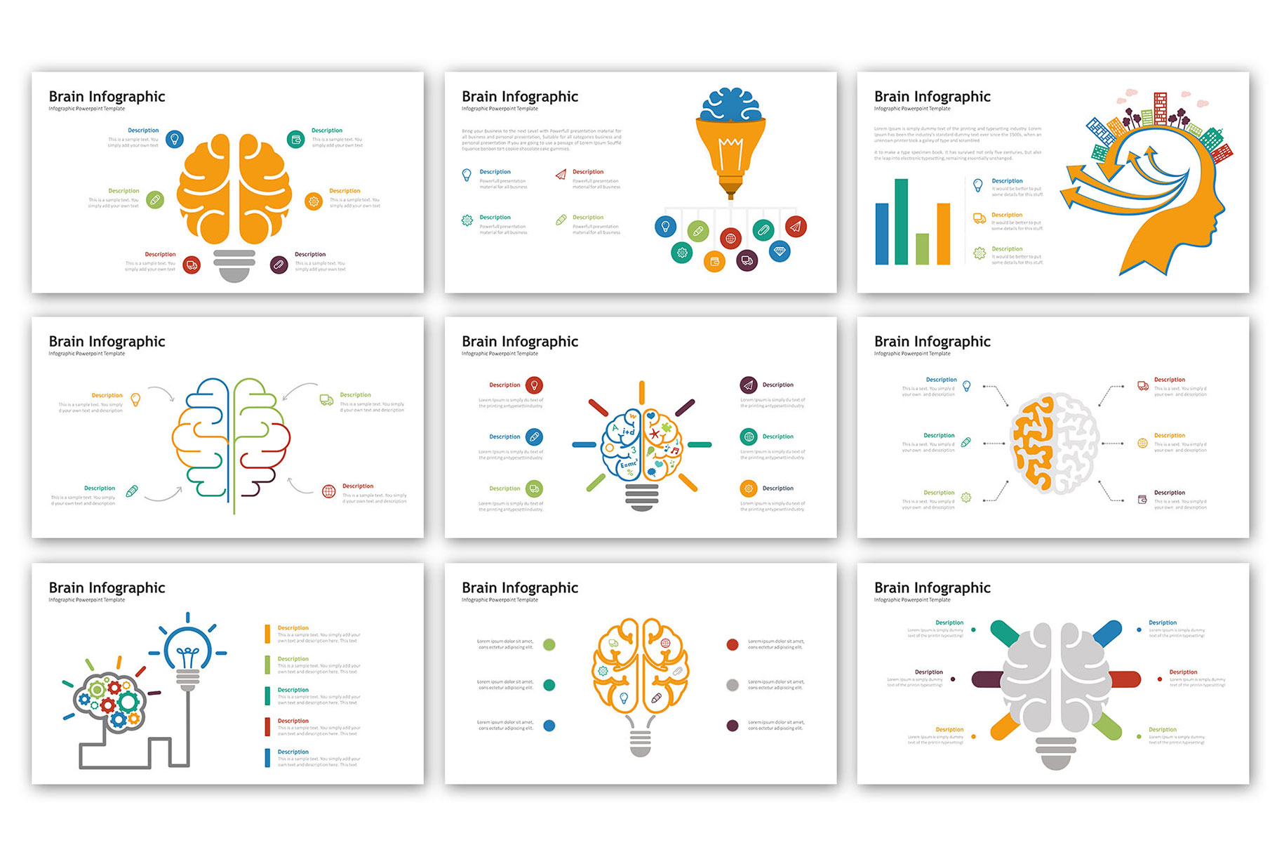 Brain Presentation - Infographic Template example image 3