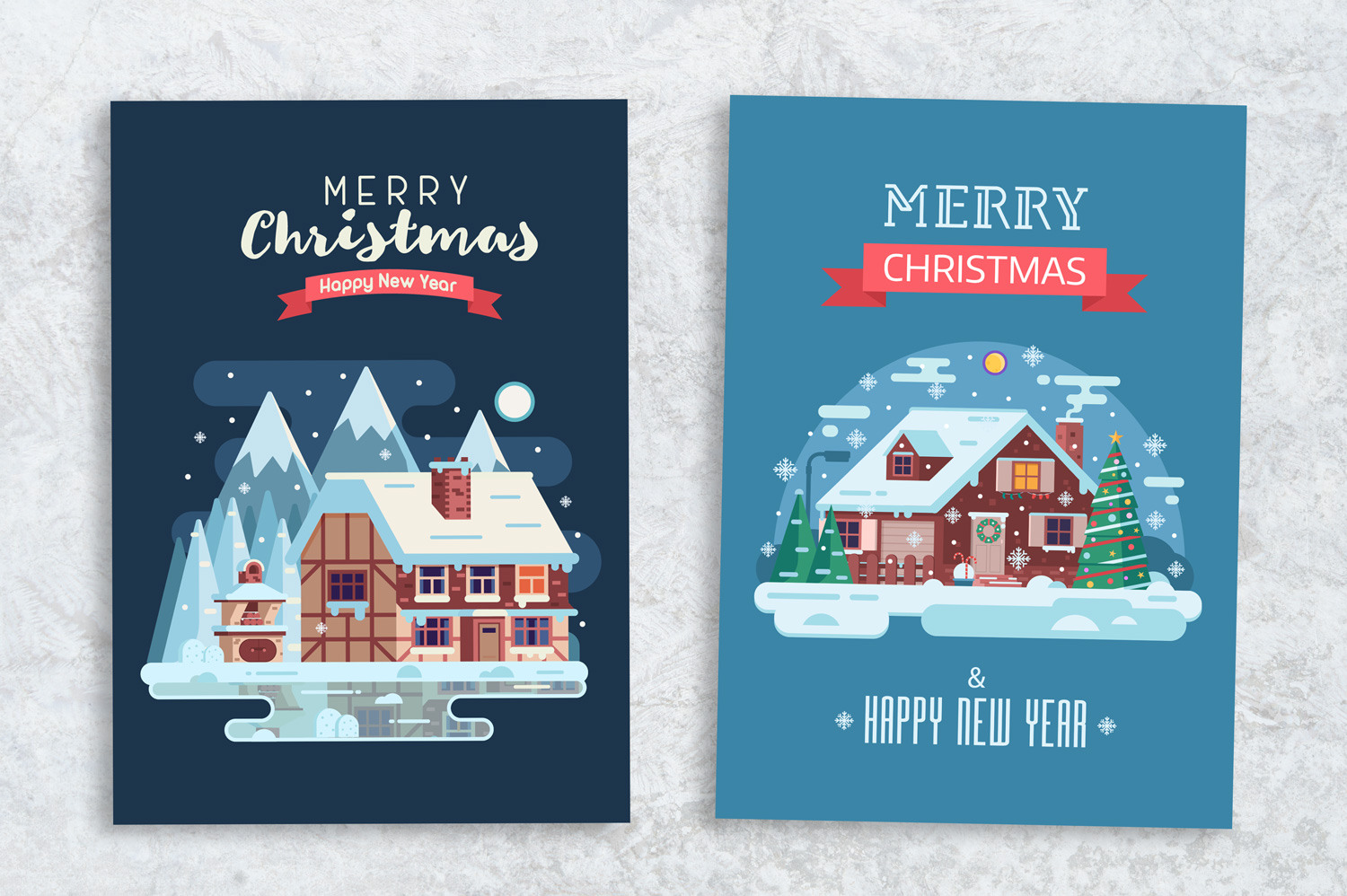 Winter Houses Christmas Cards example image 4