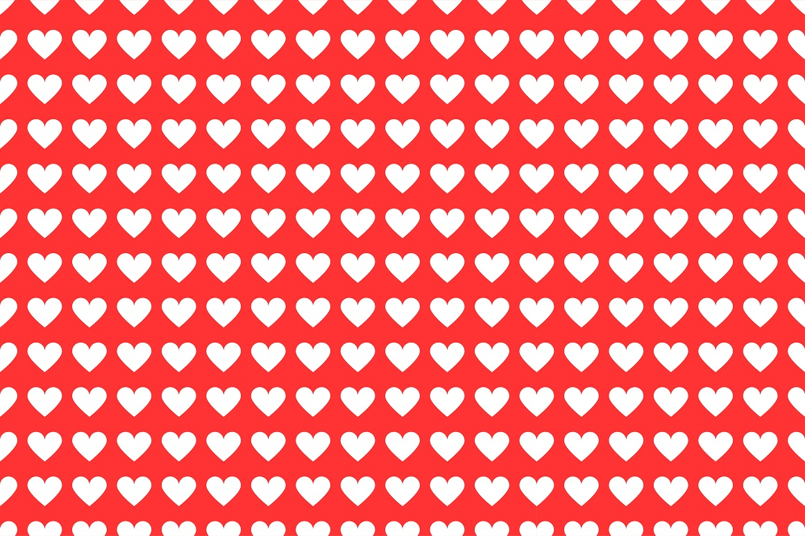 Set of seamless patterns with hearts example image 7