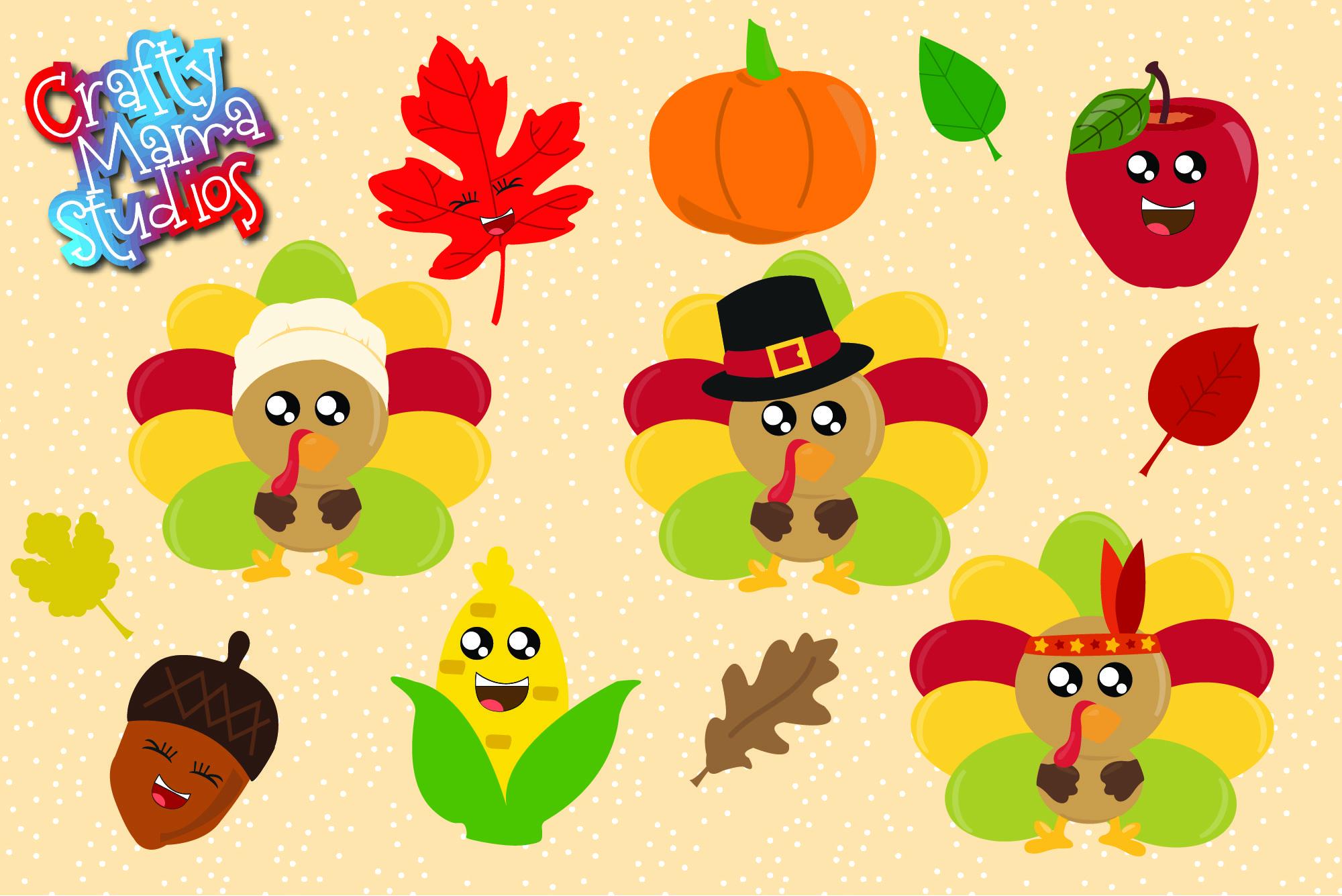 Thanksgiving Bundle SVG, Turkey, Pilgrims Sublimation example image 2