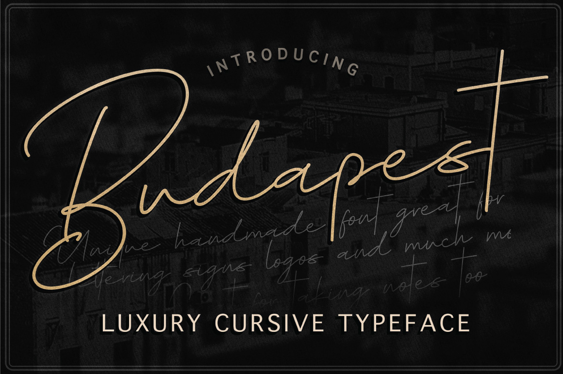 Budapest Script Font - 6 Fonts example image 1