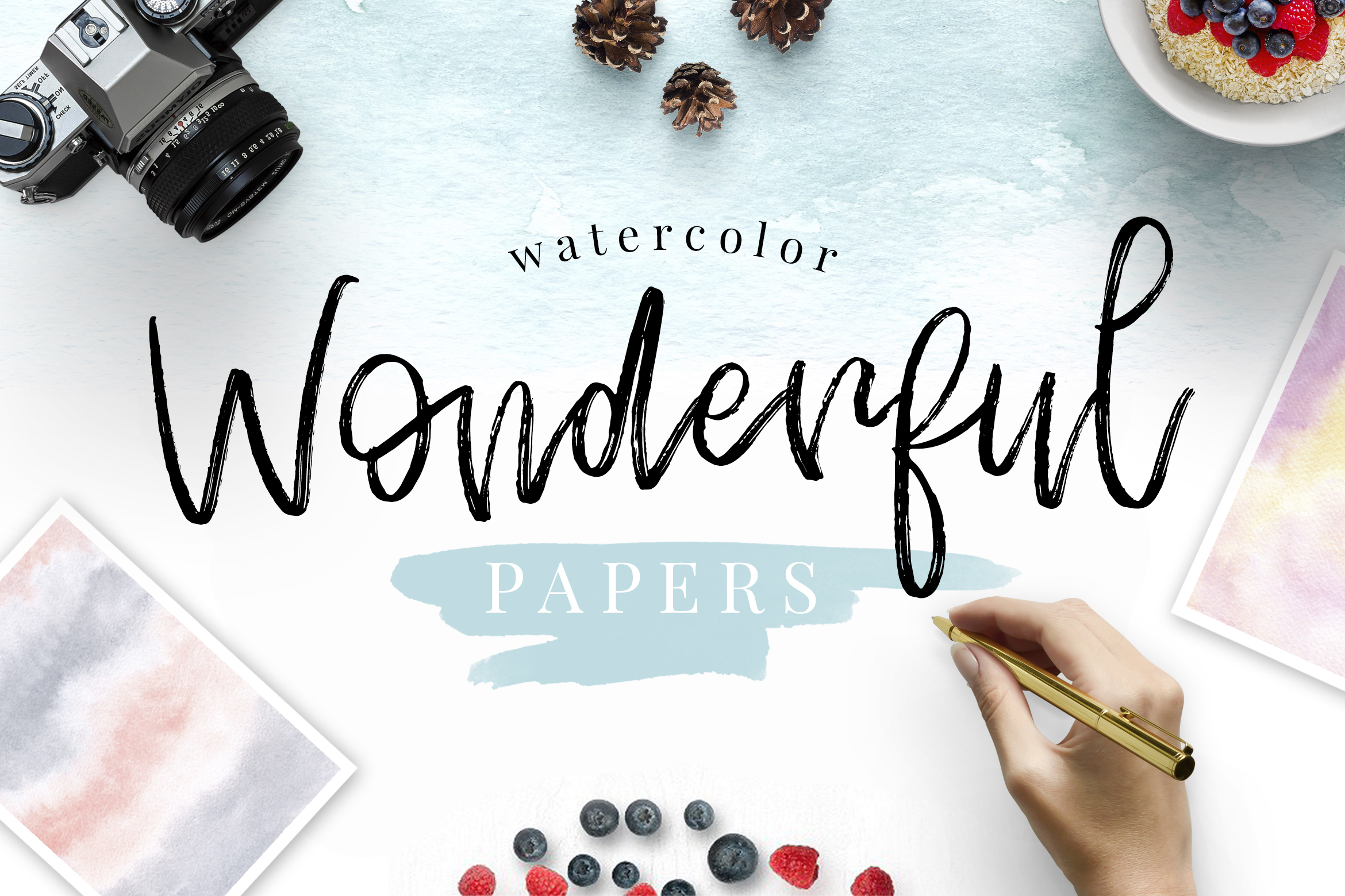 Watercolor Wonderful Papers example image 1