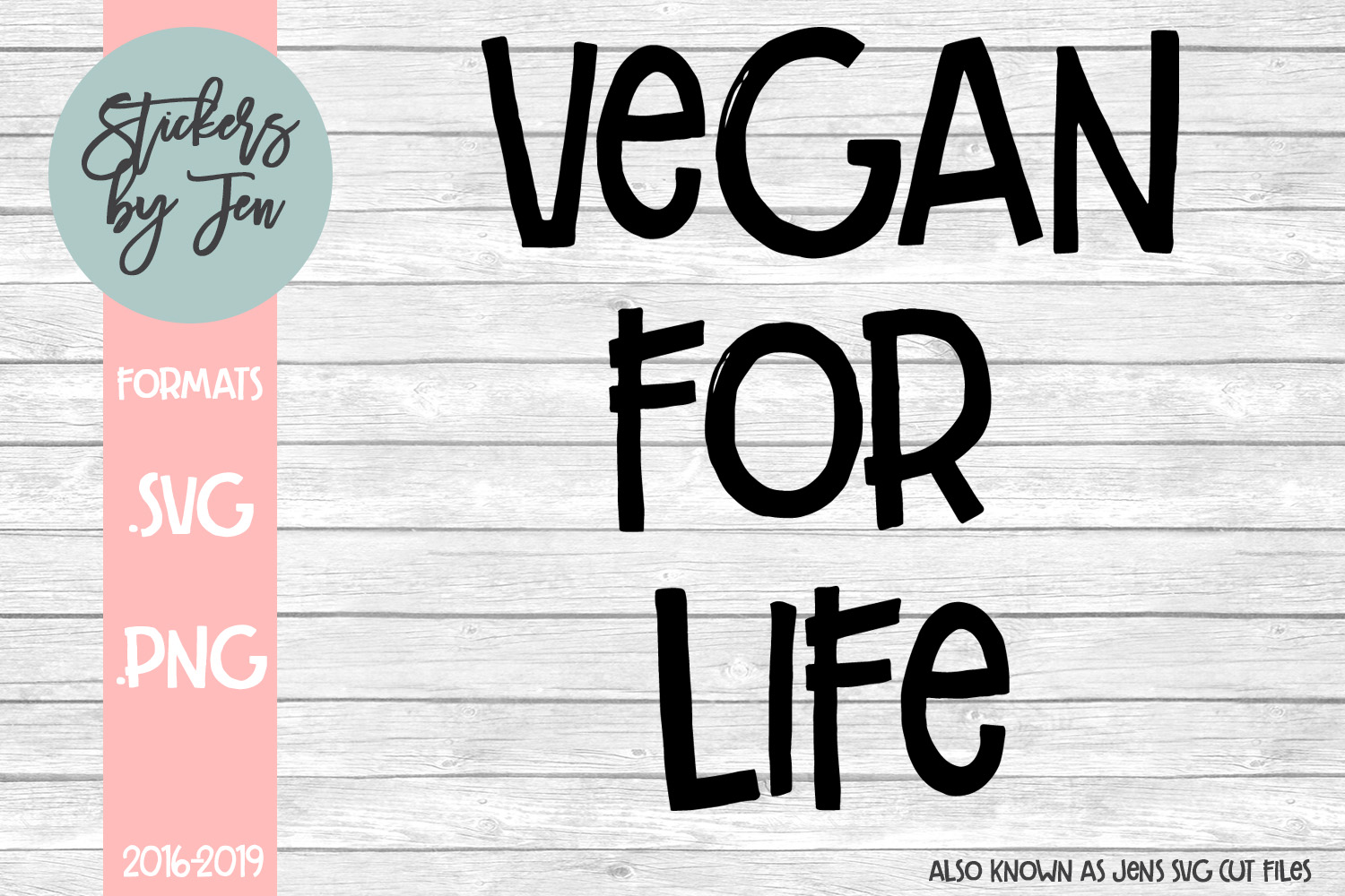 Vegan For Life SVG Cut File example image 1