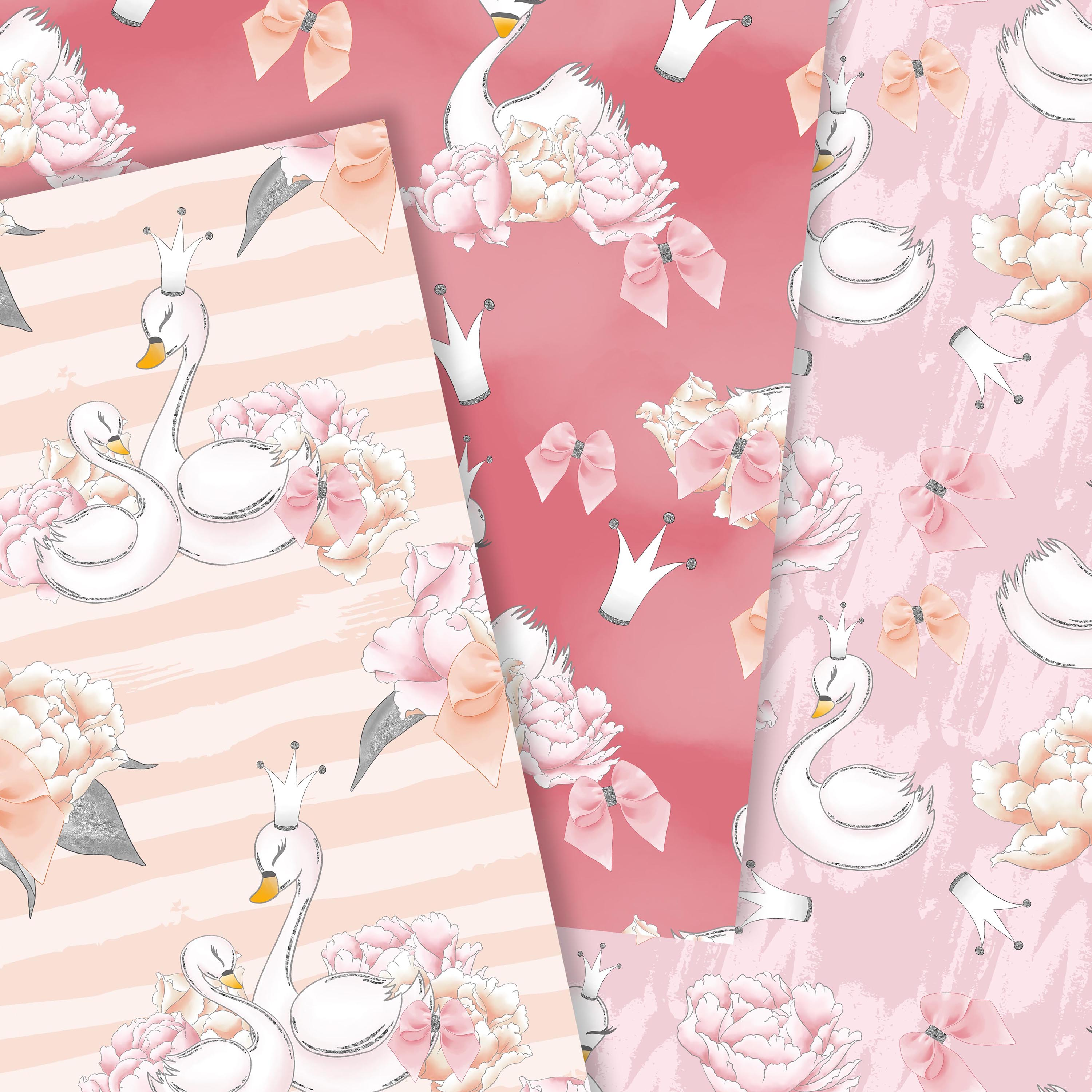 Wild swans patterns example image 3