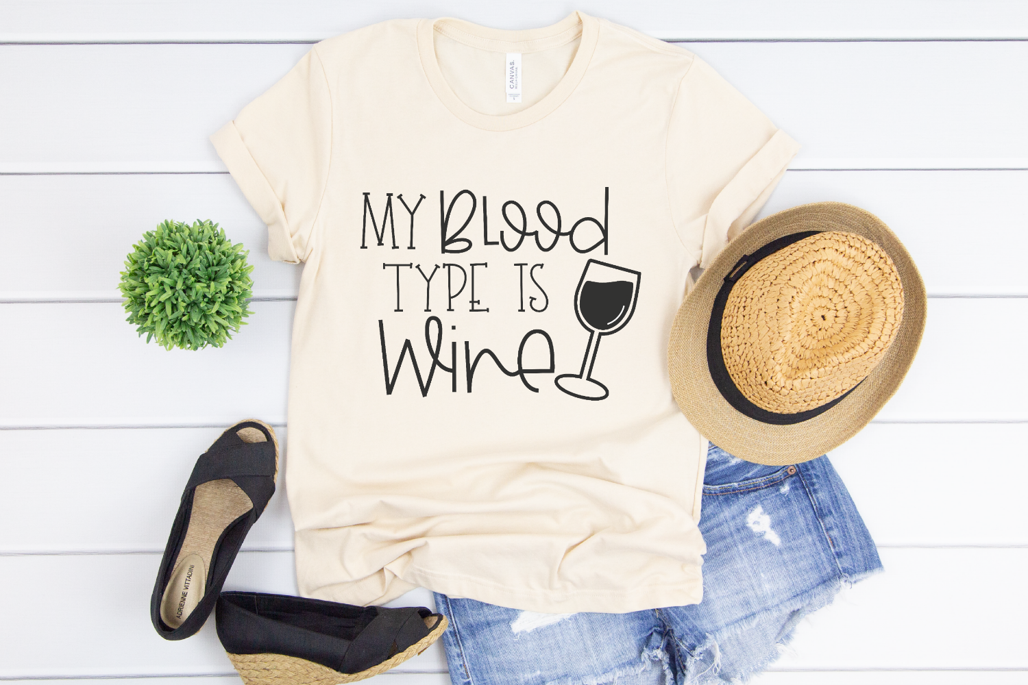 Wine Saying - Funny Quote - My Blood Type Is Wine SVG example image 2