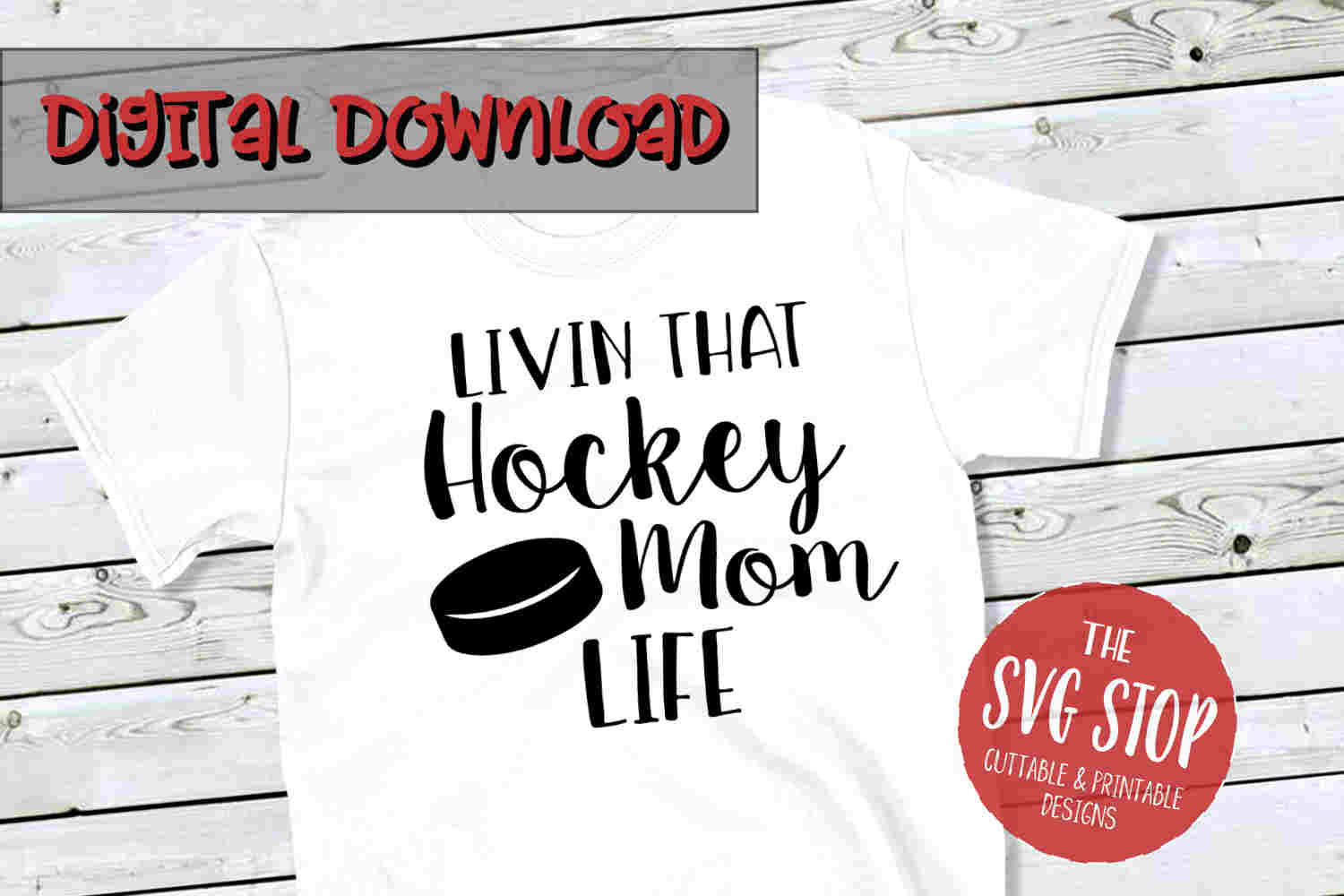 Hockey Mom Life -SVG, PNG, DXF example image 1