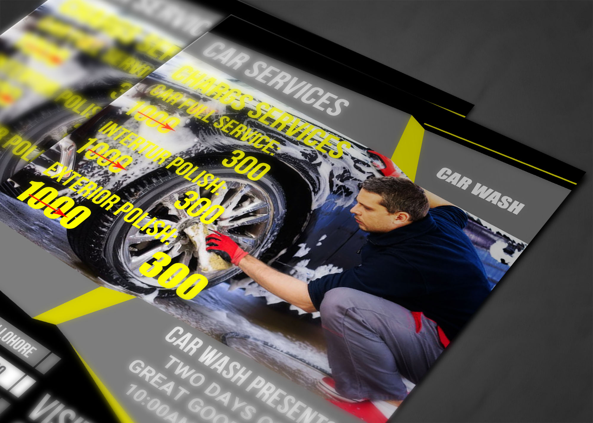 CAR SERVICES FLYER example image 4