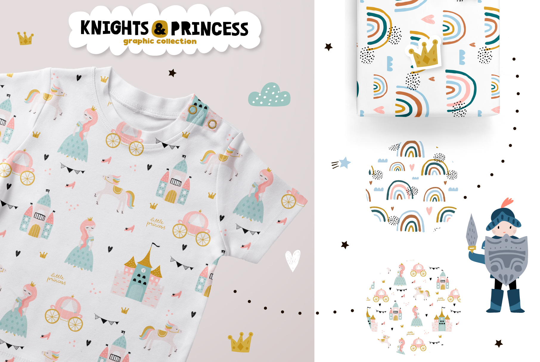 Knights & Princess graphic set example image 5