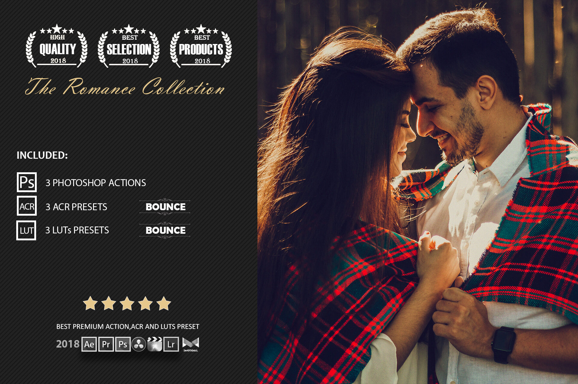 Romance Cinematic Color Grading Photoshop action Filter example image 2