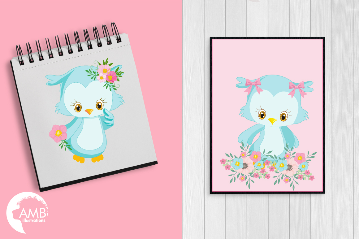 Enchanted Owls cliparts, graphics illustrations AMB-1392 example image 3