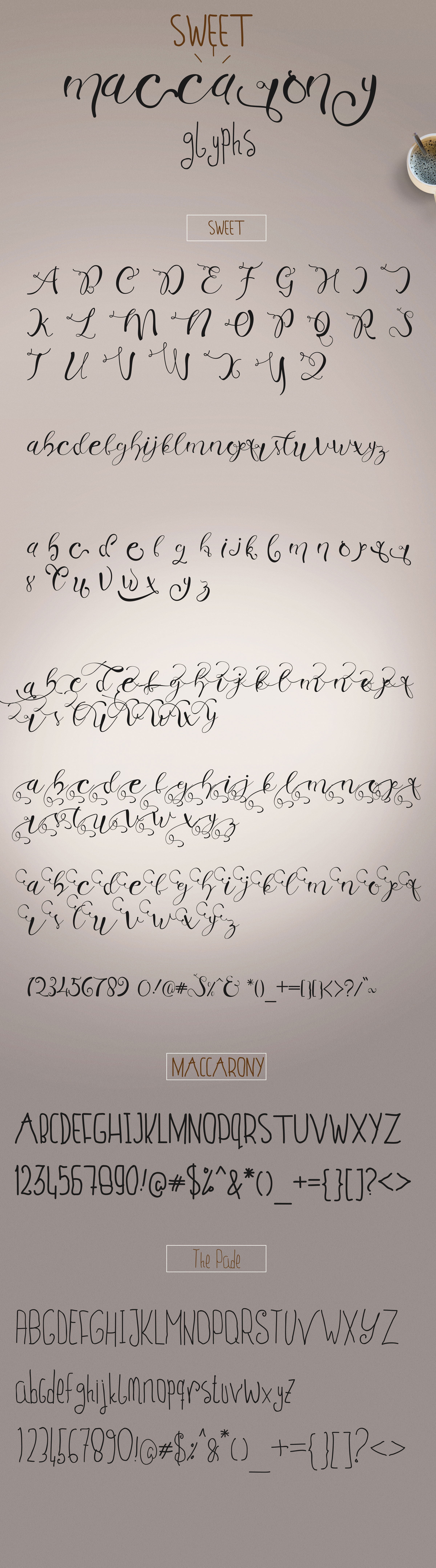 Sweet Maccarony Font Trio example image 6