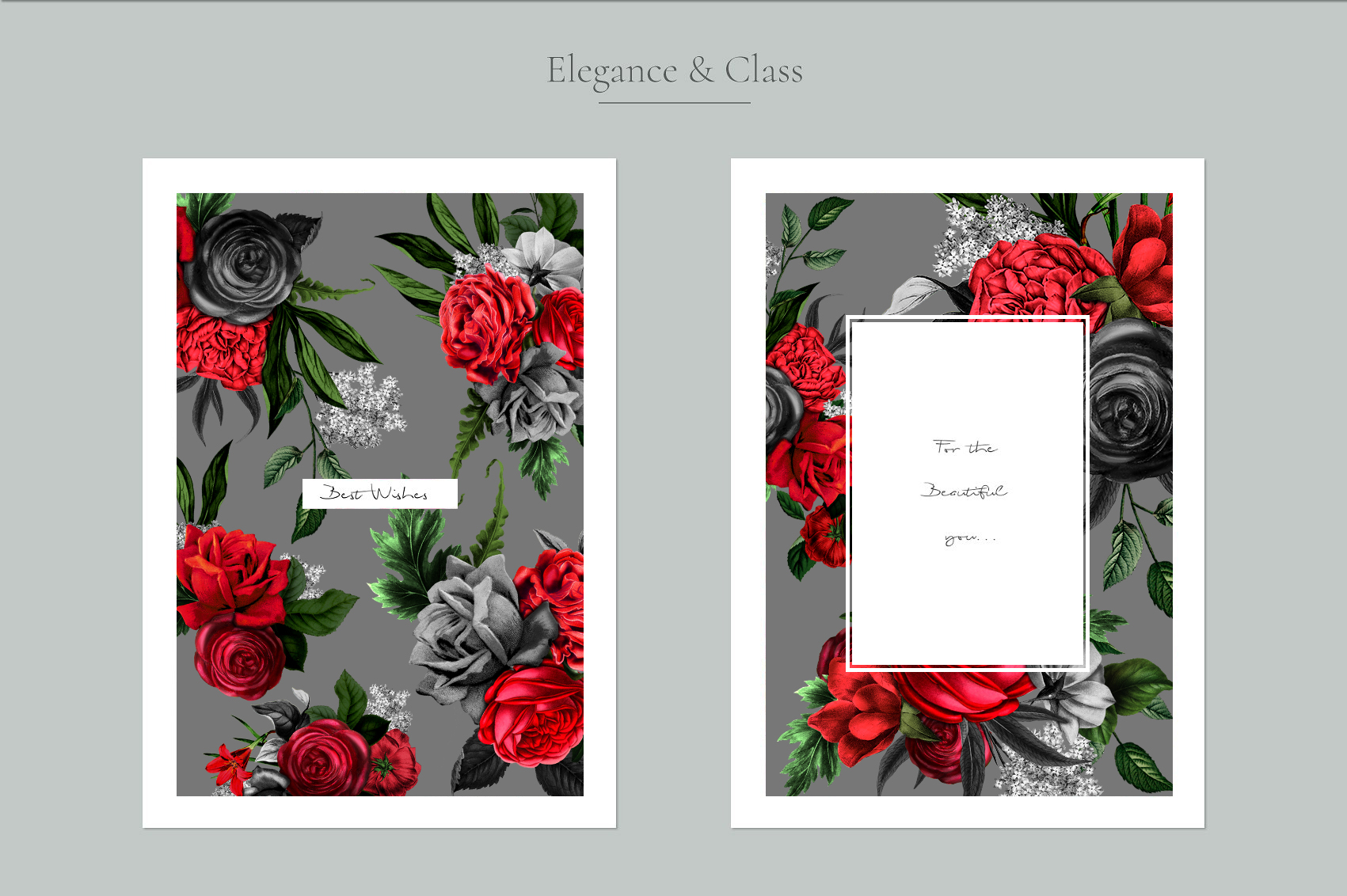 Red Flowers and Gold| Roses vintage and gold example image 9