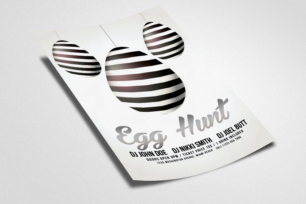 Easter Egg Hunt Flyer Template example image 2