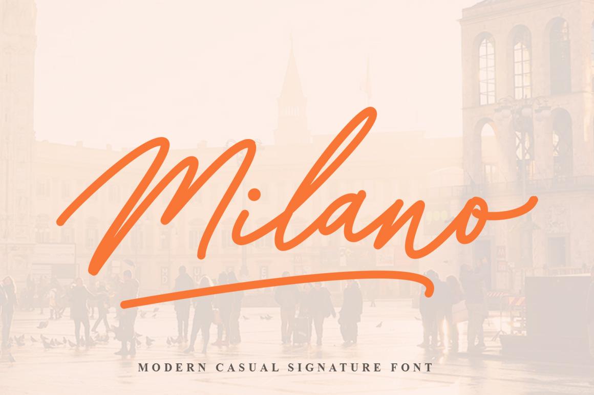 Milano Signature Font example image 1