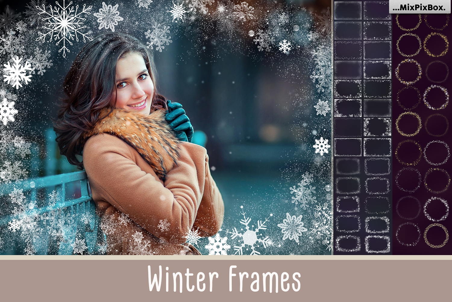 A big set of Winter Frames example image 1