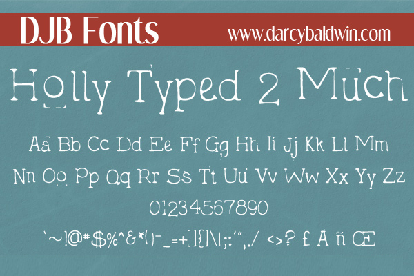 DJB Holly Sessions Font Bundle example image 14