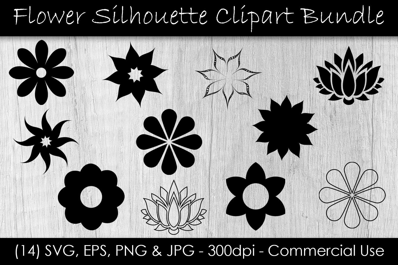 Flower SVG Bundle - Flower Clip Art - Flower Silhouettes example image 1