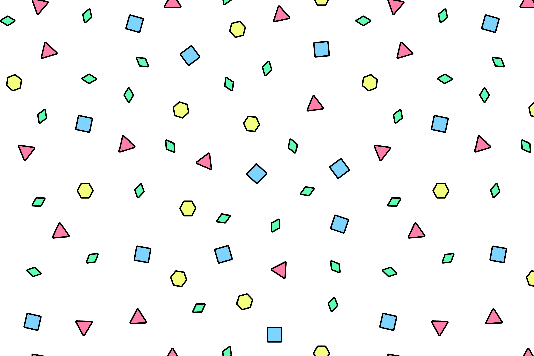 Colorful seamless memphis patterns example image 9