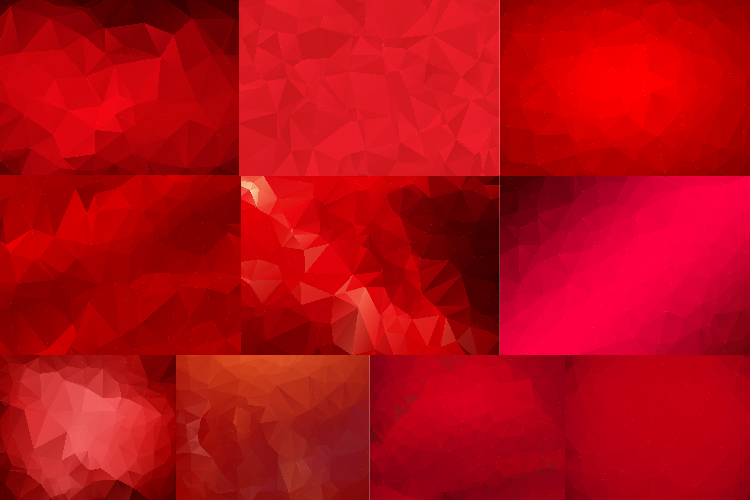 50 IN 1 LOW POLY BACKGROUND BUNDLE 5 COLOR VARIATIONS VECTOR example image 7