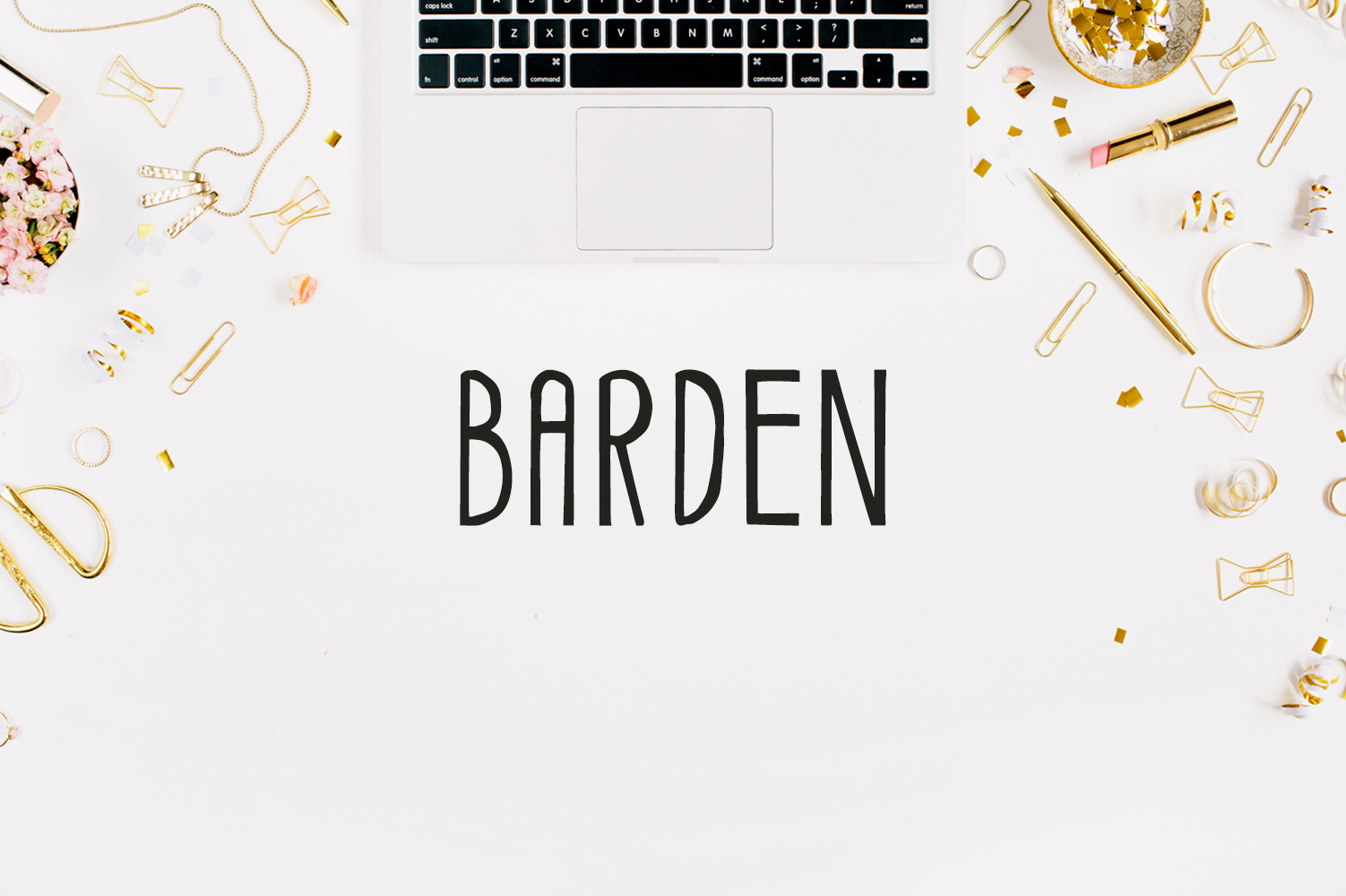 Barden Handmade Font example image 1