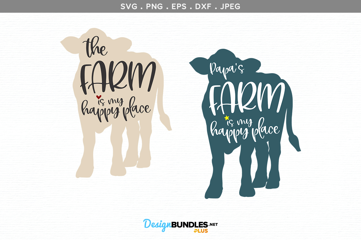 The Farm / Papa's Farm is my Happy Place - svg & printable example image 2