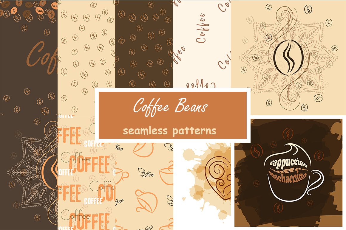 Coffee beans patterns example image 1