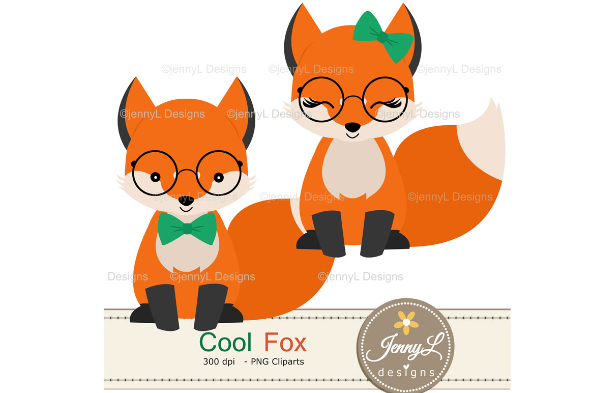 Woodland Fox Digital Papers and Clipart example image 2
