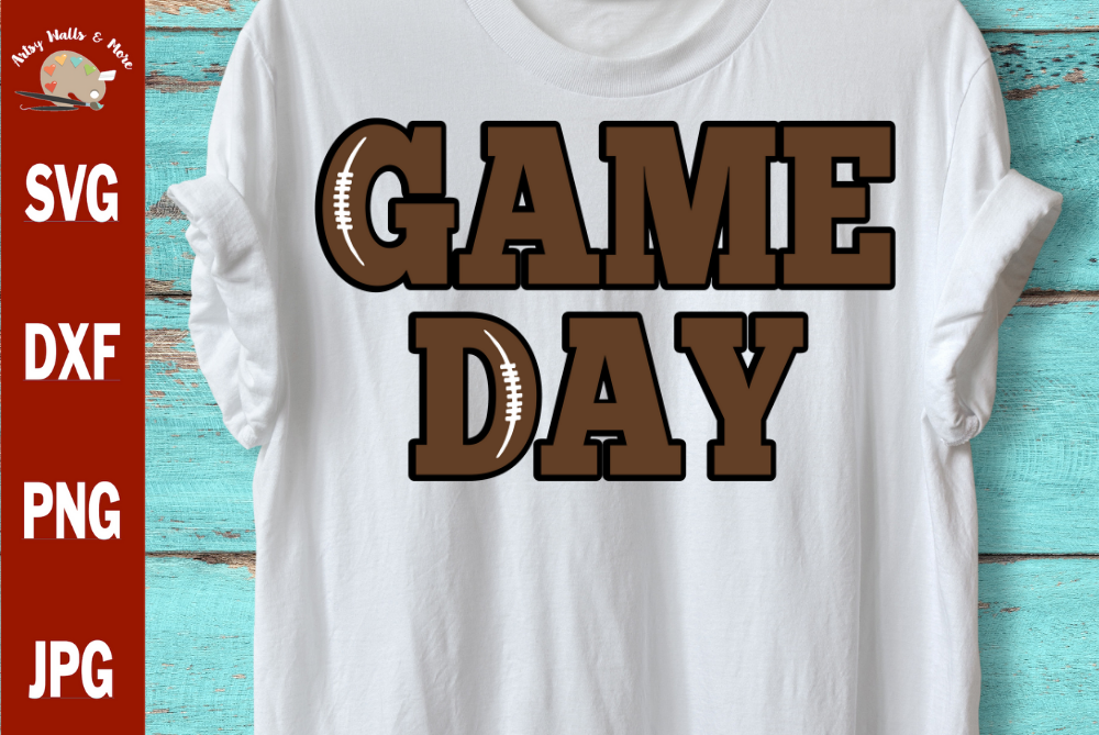 Game Day football svg, football game day shirt svg, football example image 1