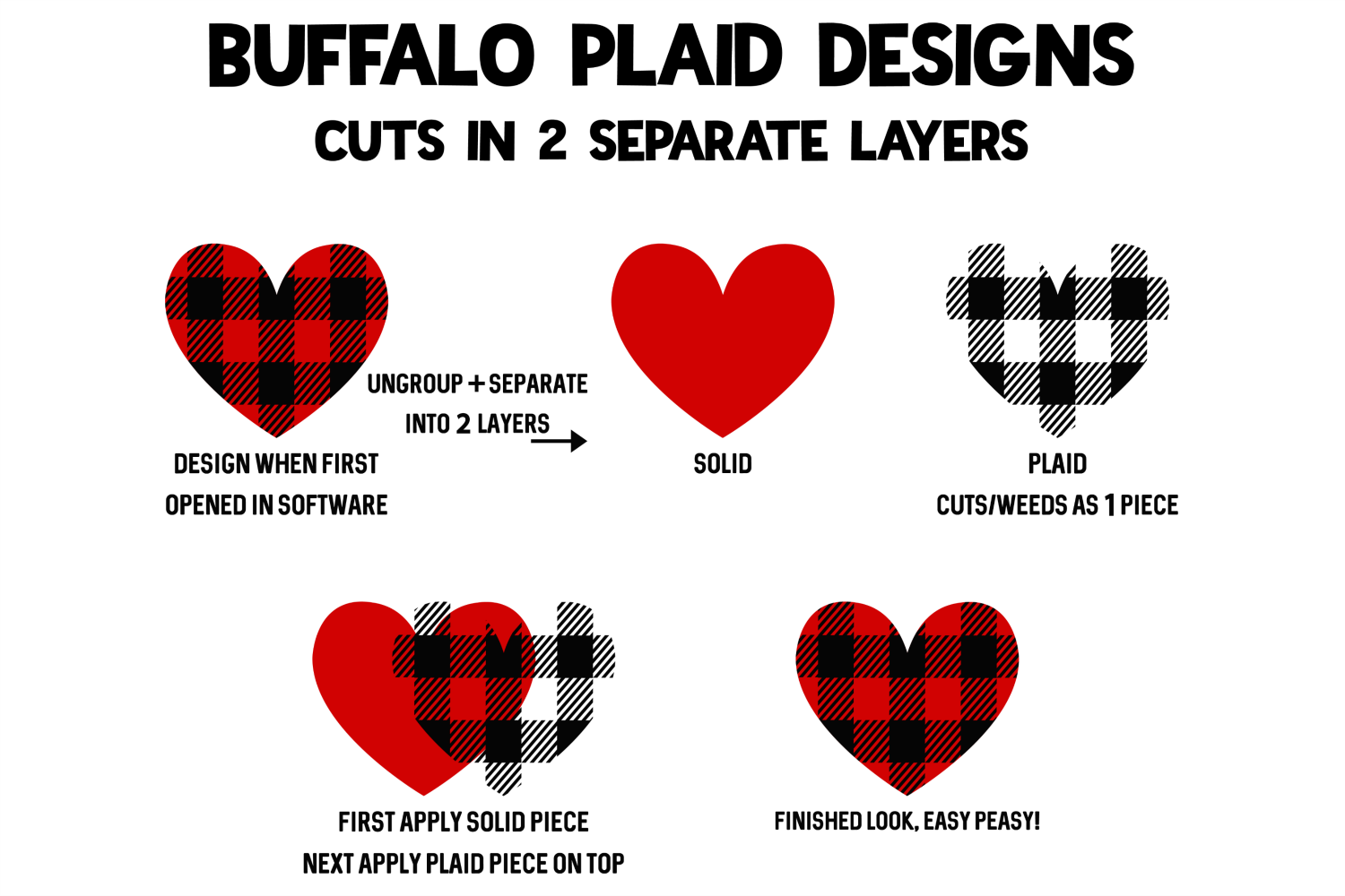 Leopard Heart - Buffalo Plaid Love - Valentines Day SVG example image 3